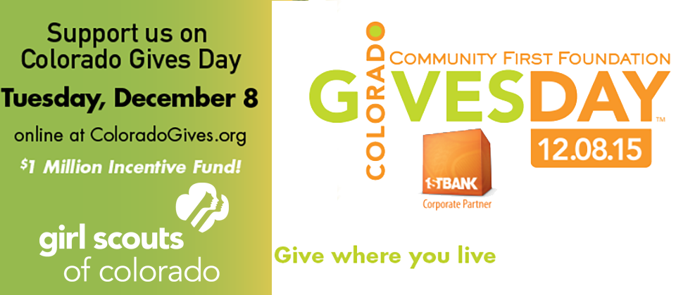 support girl scouts of colorado on colorado gives day gsco