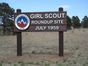 Current sign which commemorates site of 1959 Roundup