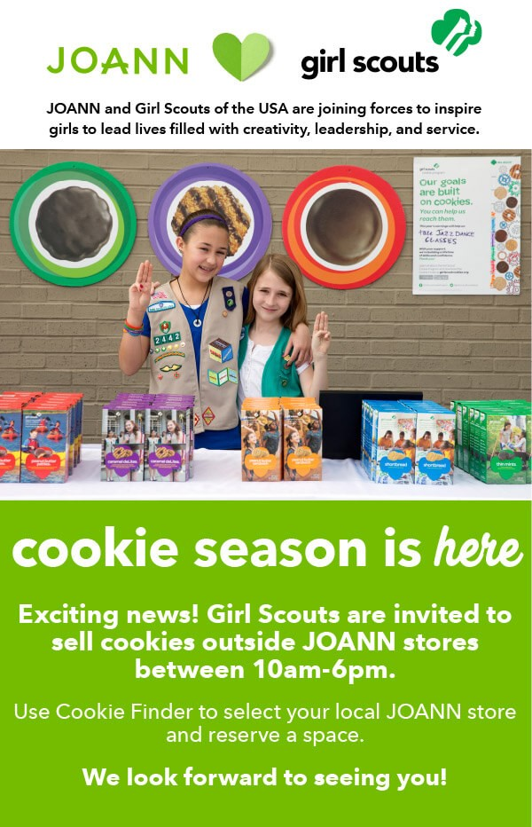 Booth Sales at JOANN Fabric & Crafts   GSCO
