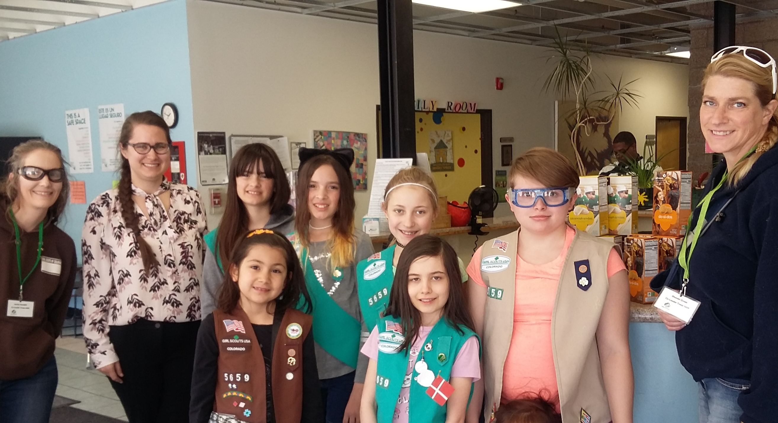 girl scout cookies donated to colorado coalition for the